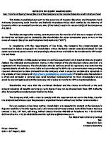 GVHL IEPF Notice